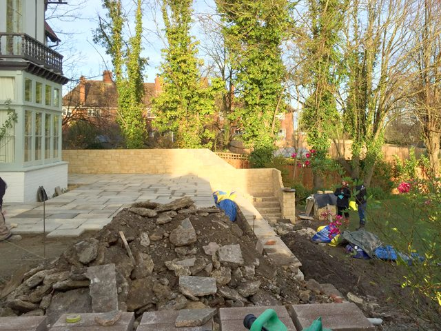 Wantage Landscaping - patio under construction