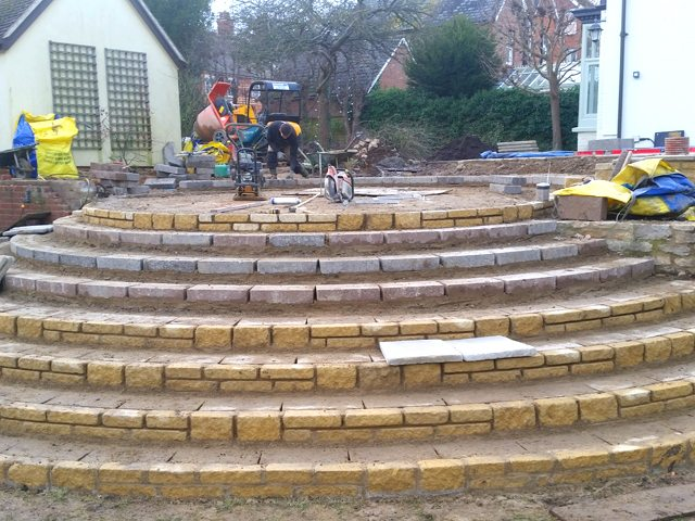 Wantage Landscaping - steps during construction