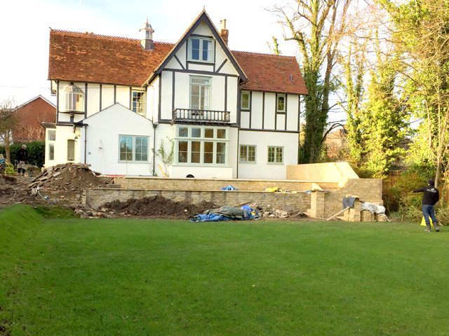 Wantage Landscaping - during construction - front view