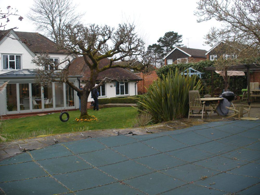 Before the garden transformation