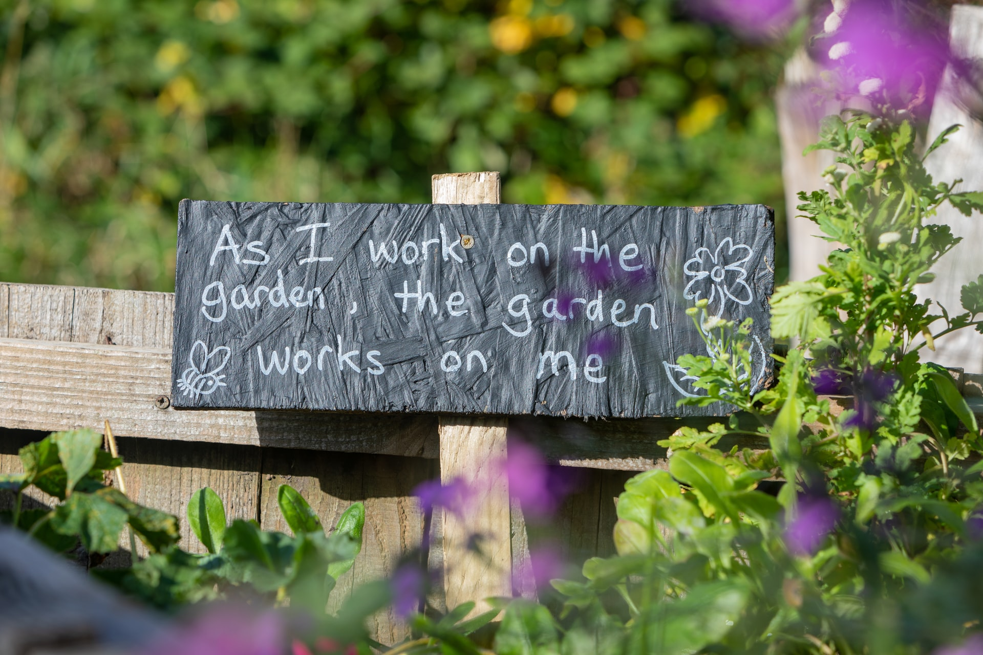gardening is therapy sign